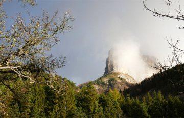 Le Mont Aiguille dans le Vercors