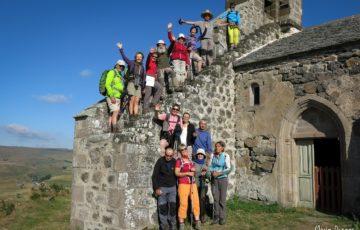 Photo de groupe en Auvergne, 2016, par Marie Donger