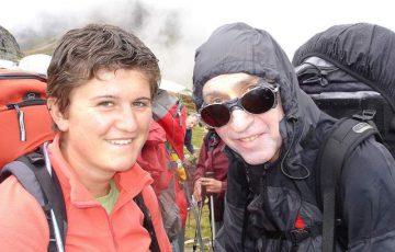 Mylène et Guy heureux sous la pluie